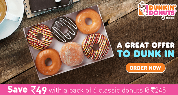 Dunkin Donuts New Year Offers