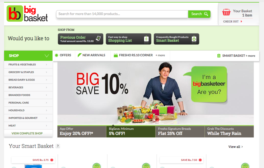 Place Order Through BigBasket