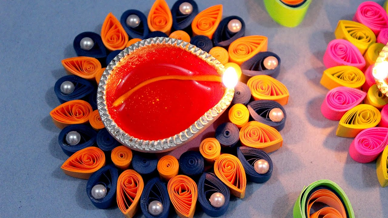 Quilling Paper Designs for Thali