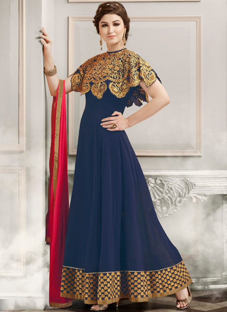 Cape Anarkali Dresses