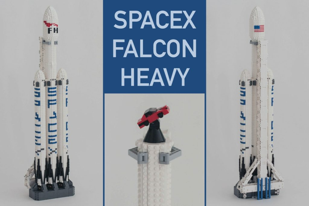 Space X Falcon Heavy Toy Rocket
