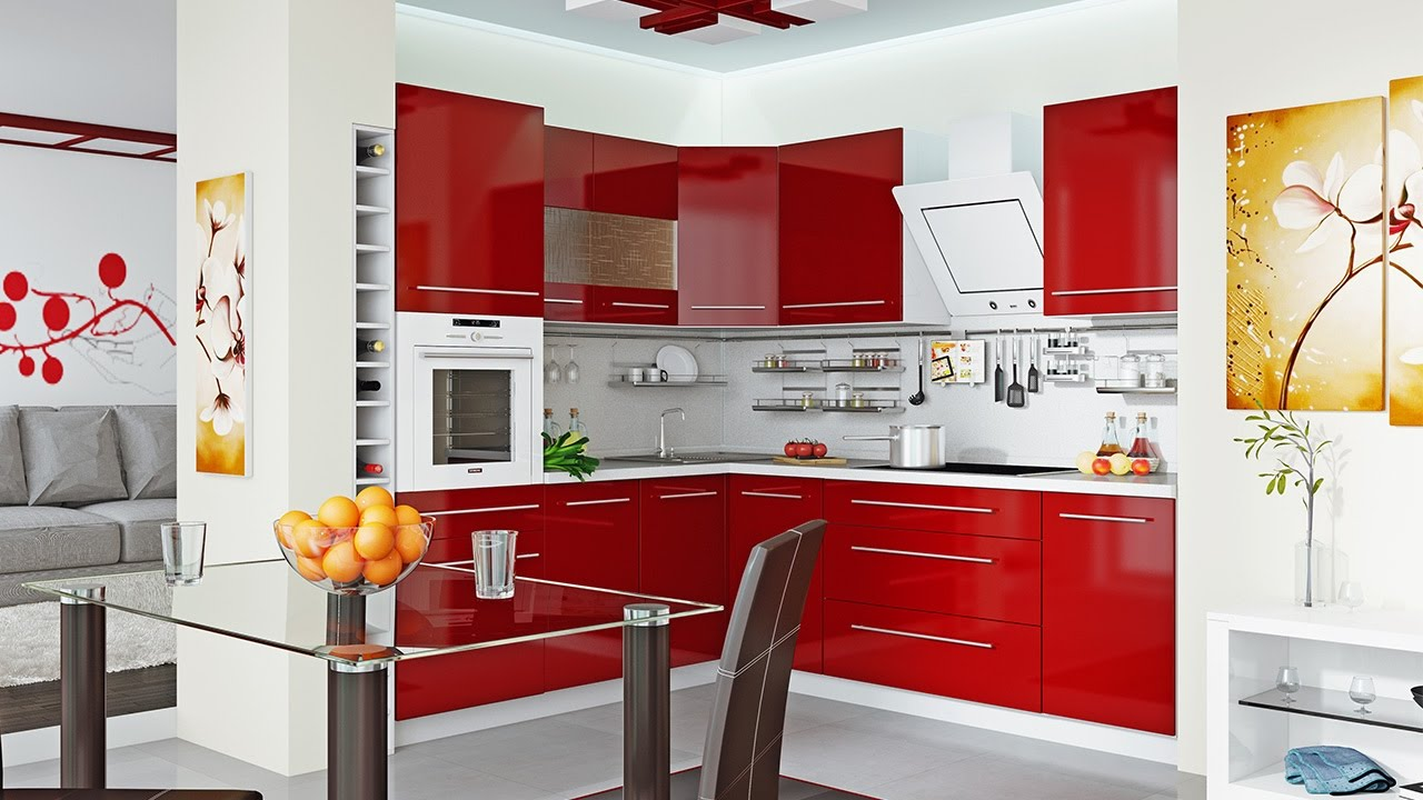 beautiful kitchen in Red