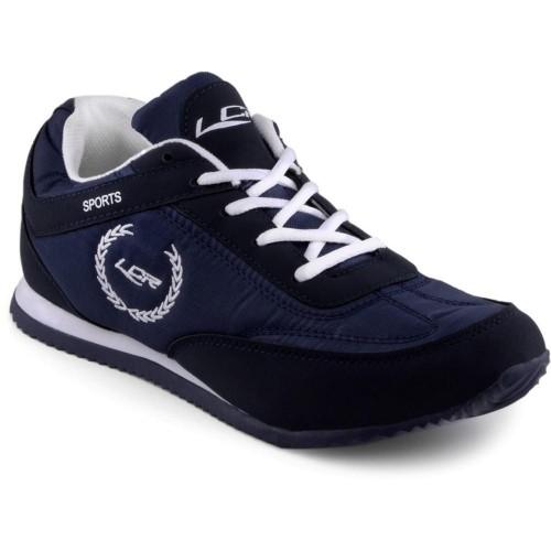 Lancer Men's Black and White Mesh Running Shoes