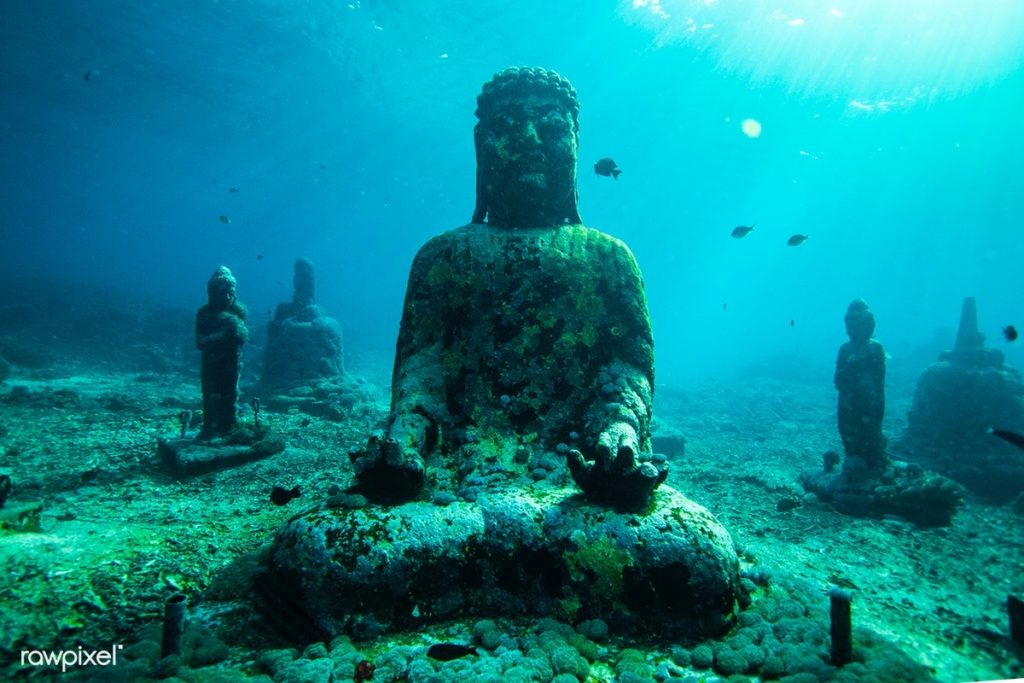 Underwater Statues In Bali