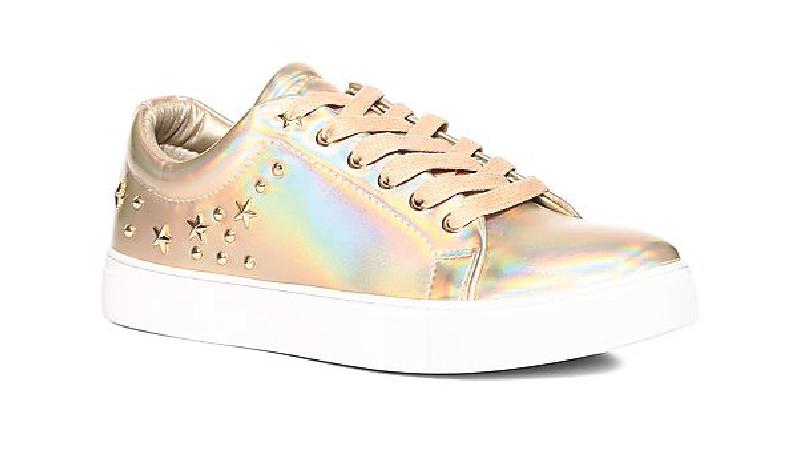 Metallic Colored footwear for ladies