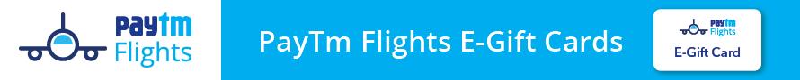 paytm flights gift card