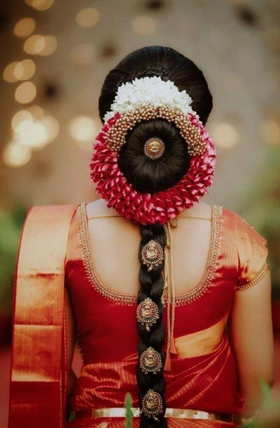 Low Bun Hairstyle For Indian Wedding 53 Off Tajpalace Net