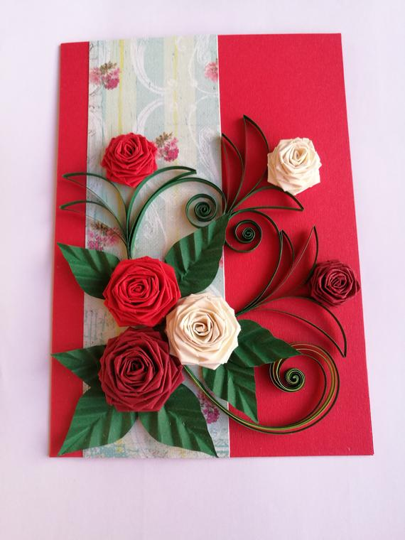 Handmade card Rose day Gift Ideas