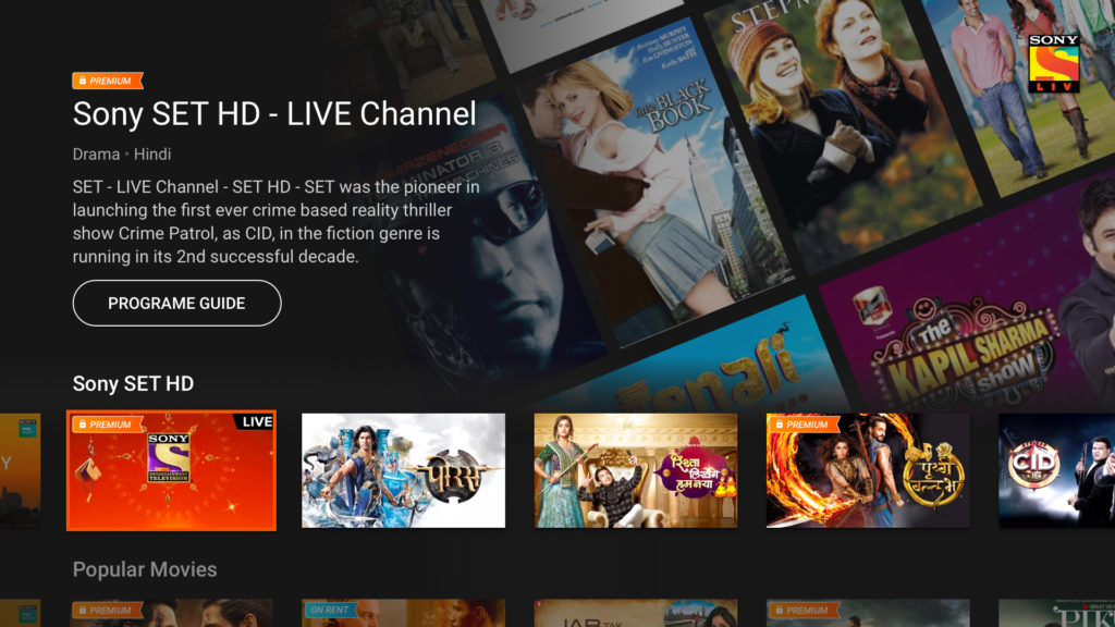 Sony LIV Video Streaming Apps