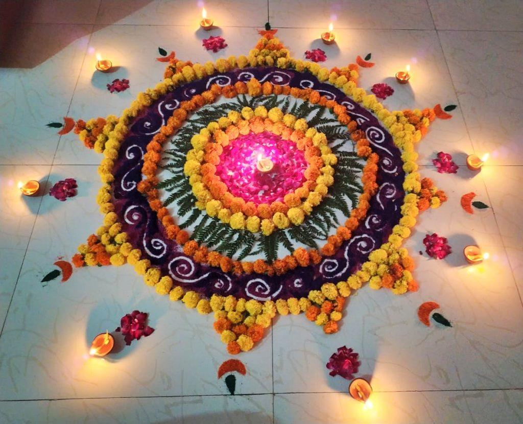 Top 10 Eye Catching Flower Rangoli Designs For Diwali Do you want some unique rangoli designs for independence day. top 10 eye catching flower rangoli