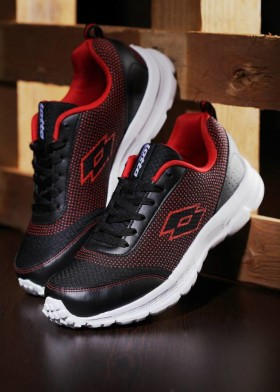 Get 55% Off On Lotto Running Shoes For Men Black, Red