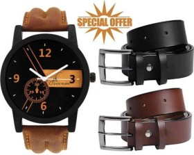 Flat 90% Off: Buy 1 Watch + 2 Belts At Rs 199 @PaytmMall