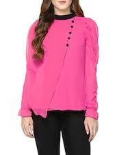 Get Flat 70% Discount On Pink Georgette Layered Top