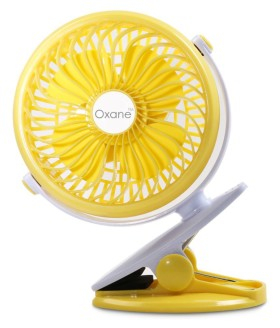Buy Oxane USB Fan Yellow Pack of Pack of 1 360 degree swivel usb clip fan portable at Rs.520