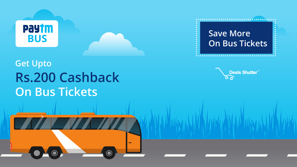 Paytm- Flat 100% cashback on first bus ticket booking